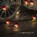Icône de champignon de 25 points Mini LED Home Decor